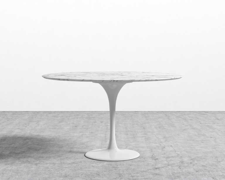 Tulip Table Round Carrara Rove Concepts