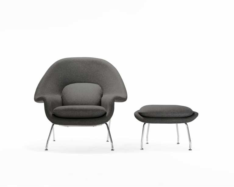 womb chair  eero saarinen chairs  rove concepts -  womb chair and ottoman a
