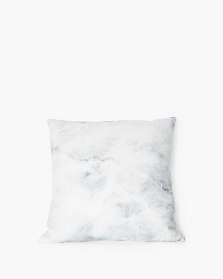 Printed Cushion - Marble White