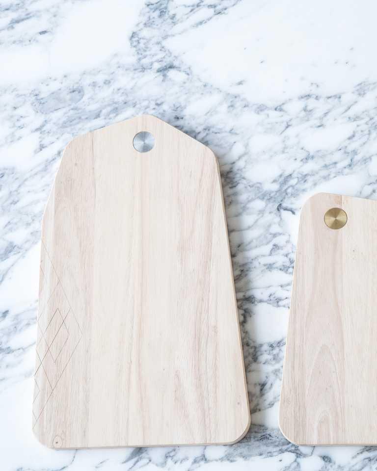 Rubberwood Cutting Board - Silver Tritic