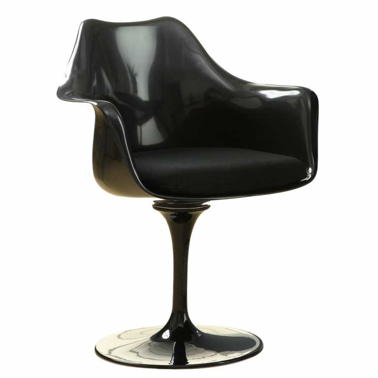 Dining Arm Chairs Black tulip armchair | reproduction | rove concepts