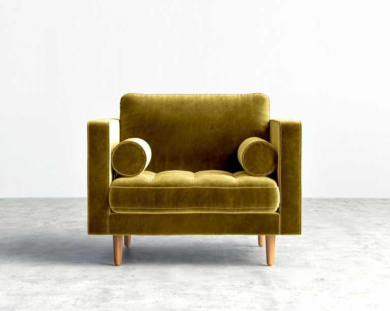 Brown Armchair Luca Armchair Mid Century Modern Armchair Rove Concepts