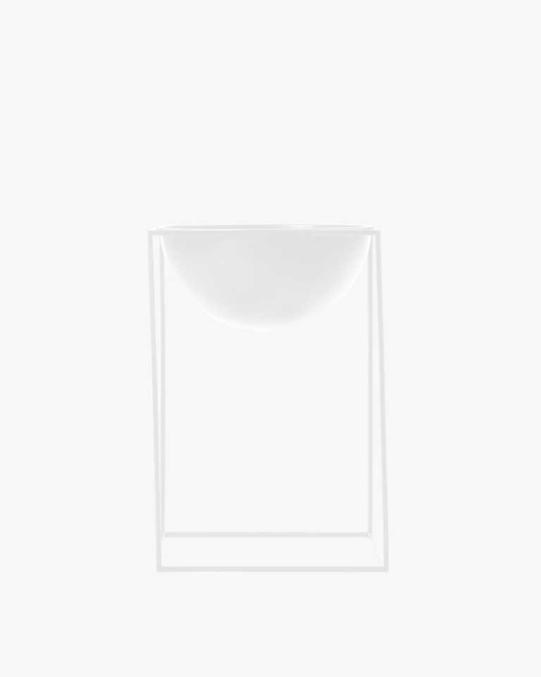 Metal Planter - White Large