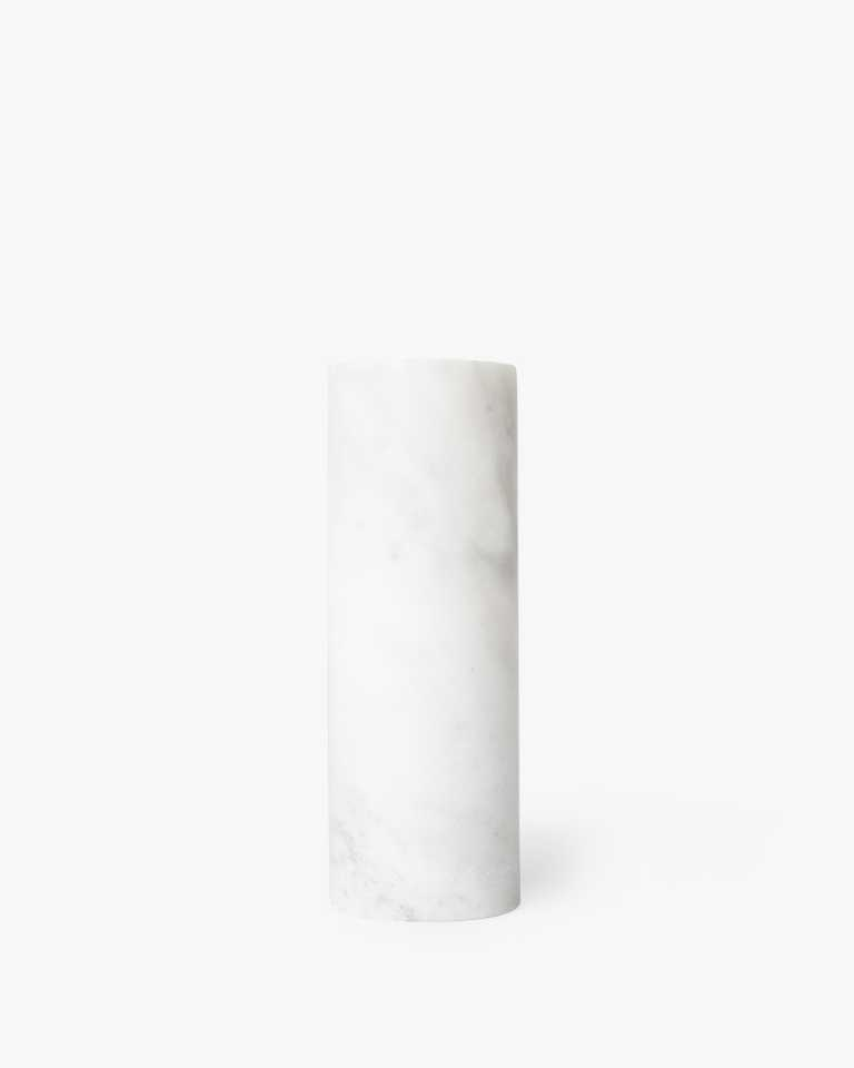 Simple Marble Vase - White