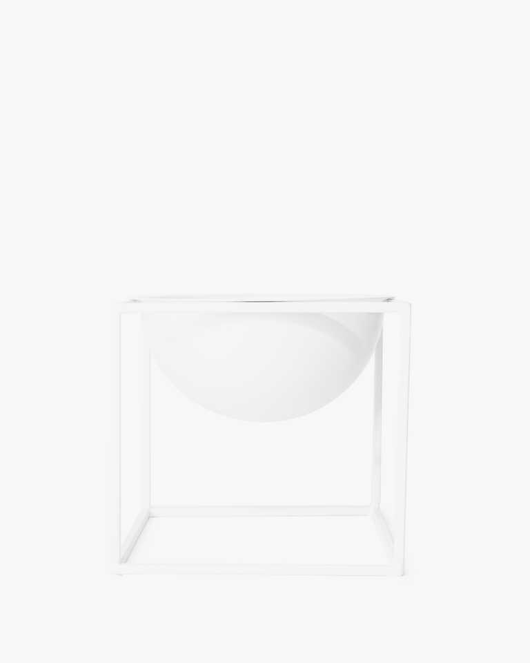 Metal Planter - White Small