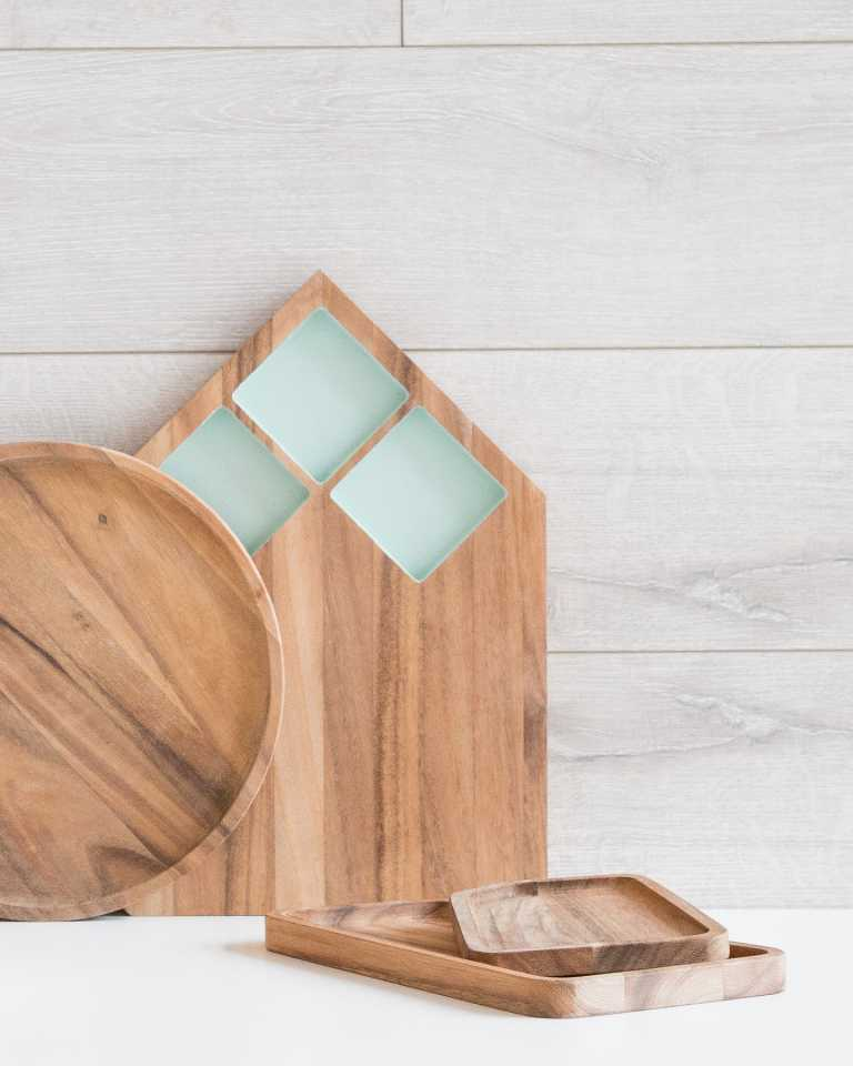 Acacia Cutting Board - Mint