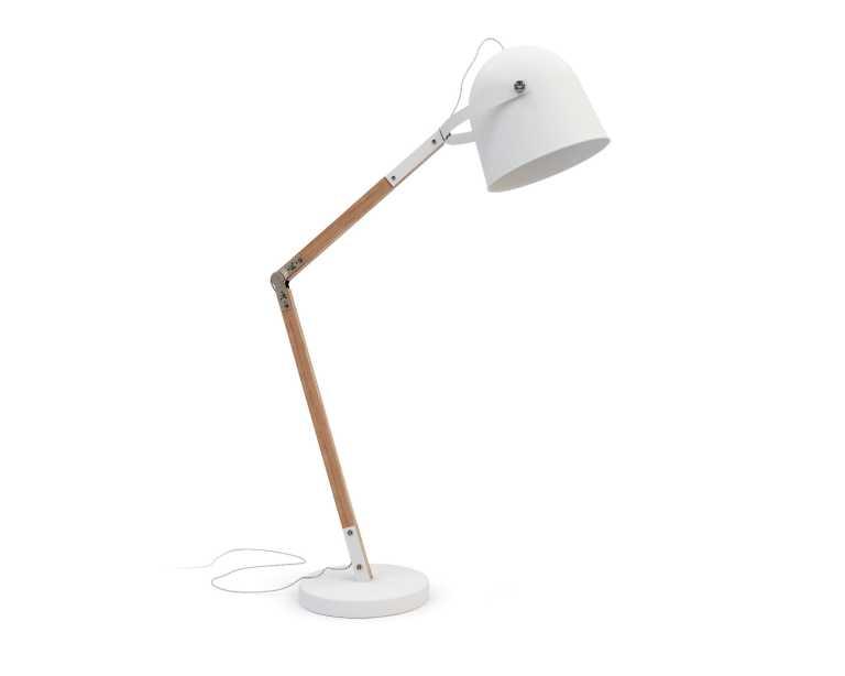 Modern white floor lamp -  Wesley Floor Lamp White 89