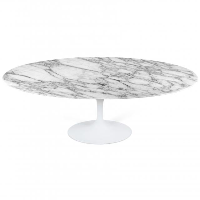 Saarinen Oval Tulip Table - Calacatta Marble
